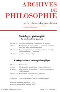 Sociologie, philosophie : la modernité en question